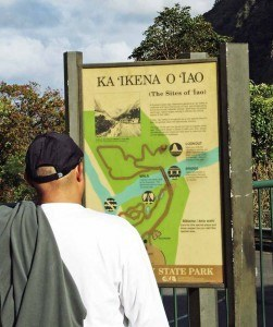 Iao Valley Sign