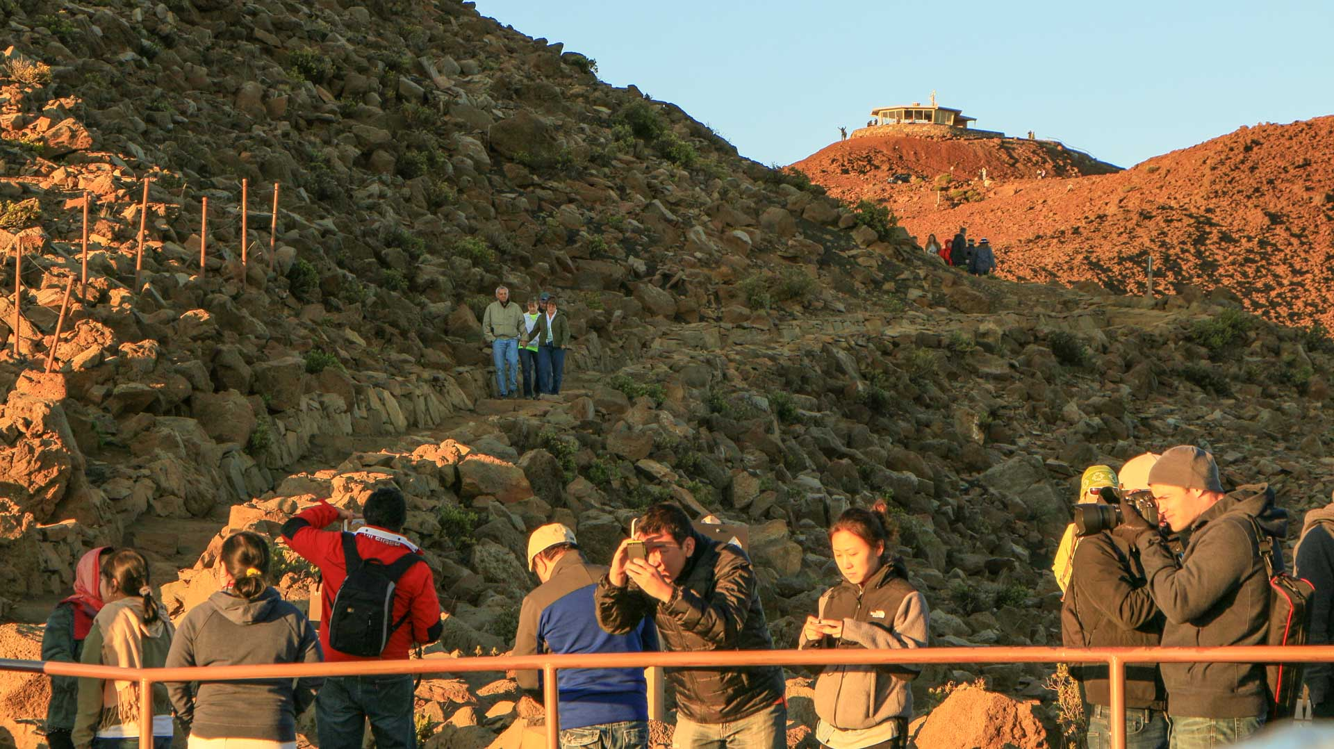 haleakala summit visitors morning