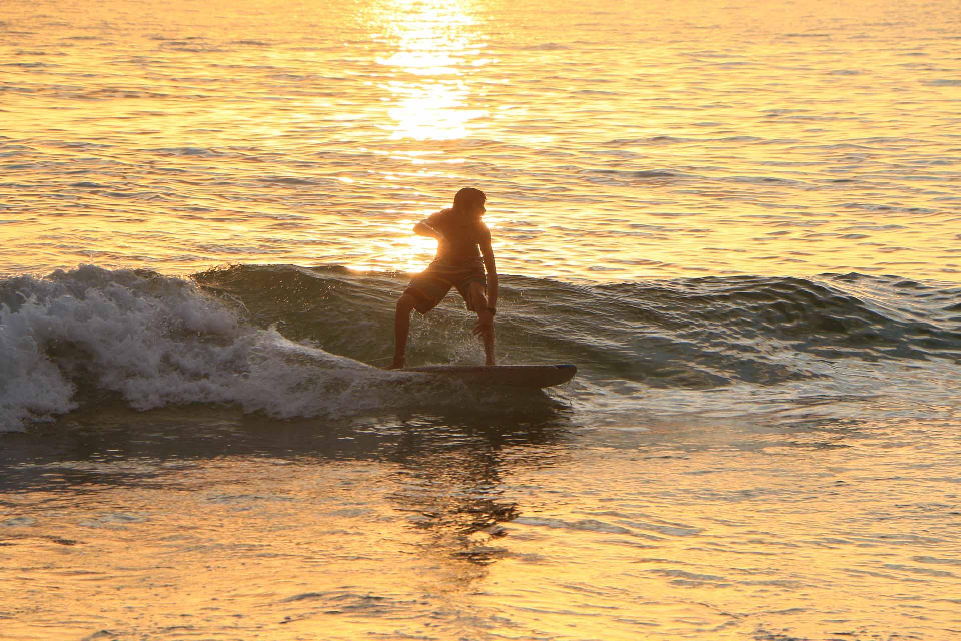 surfing little beach